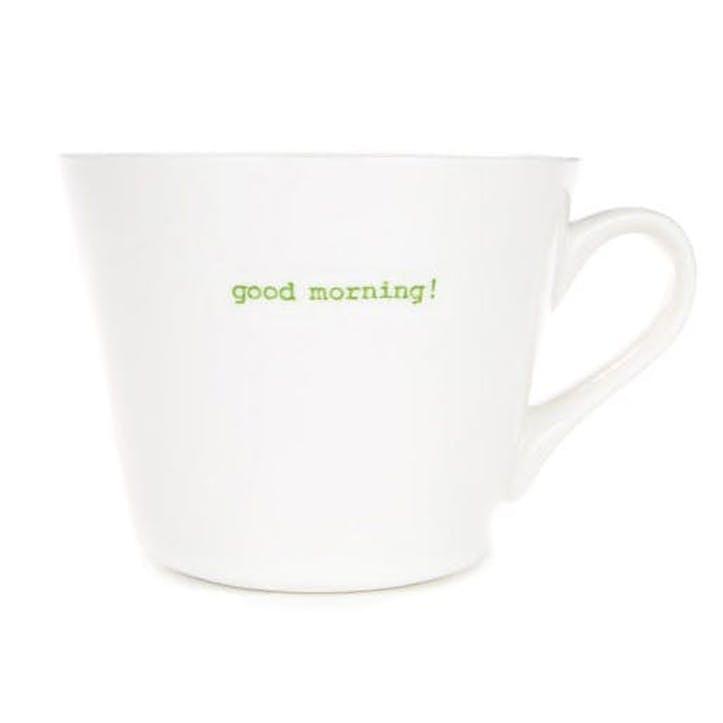'Good morning!' Bucket Mug, 350ml