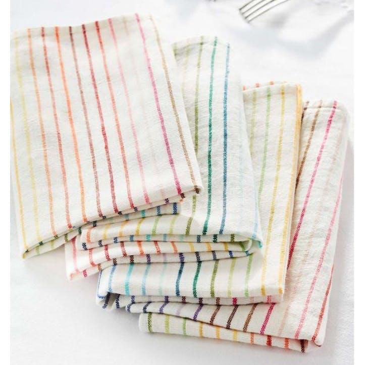 Rainbow Linen Napkins, Set of 4