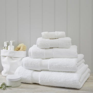 Egyptian Cotton Towel, Hand Towel, White