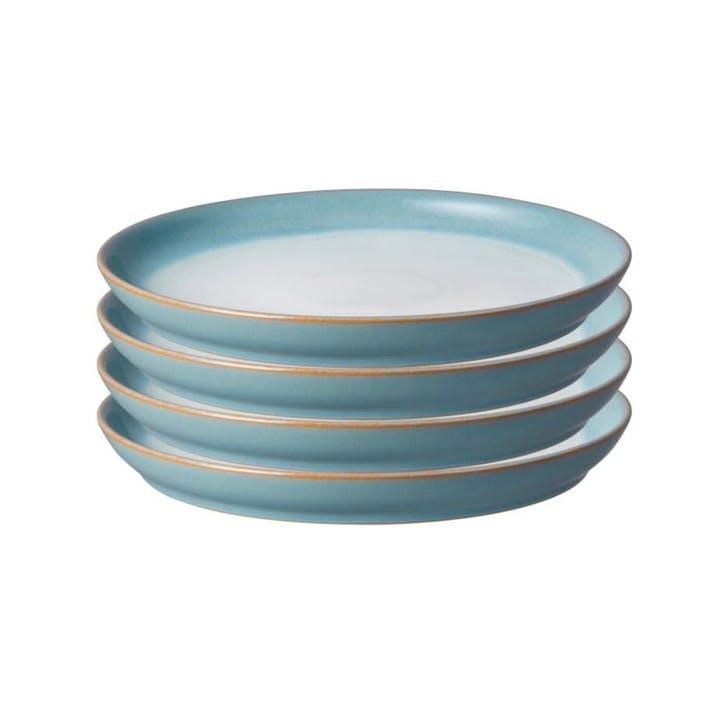 Azure Haze Medium Plate, Set of 4