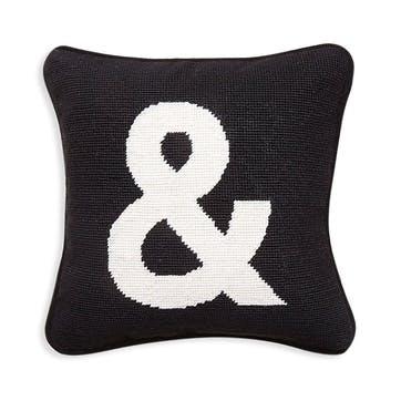 &, Needlepoint Cushion, Beige, H31 x D31cm