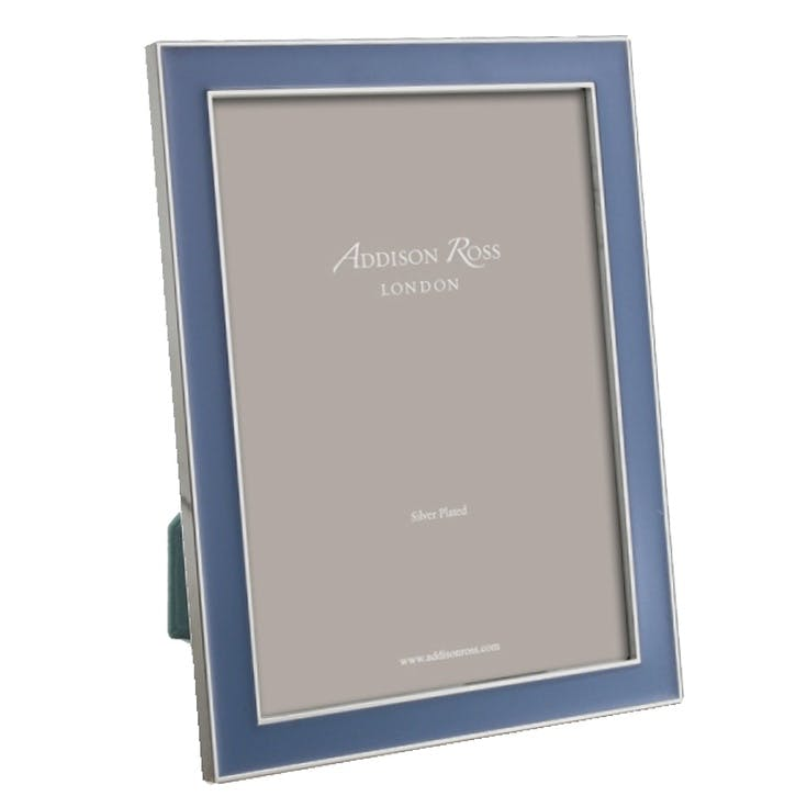 "Rich Enamel Photo Frame - 8"" x 10""; Denim"