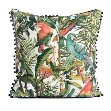 Tropical Story Parrots of Brasil Cushion