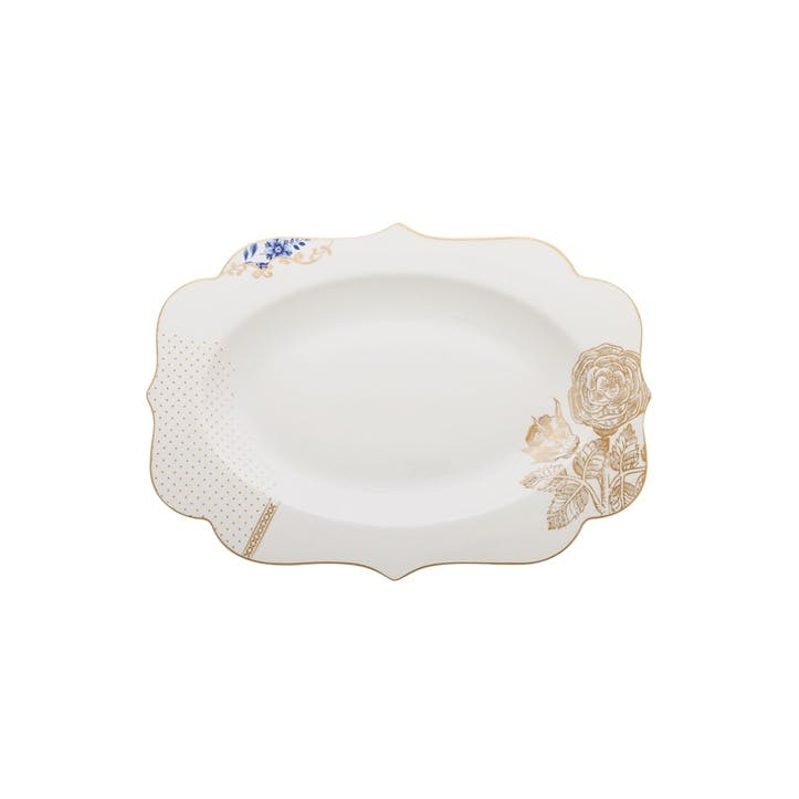 PiP Royal White Oval Platter