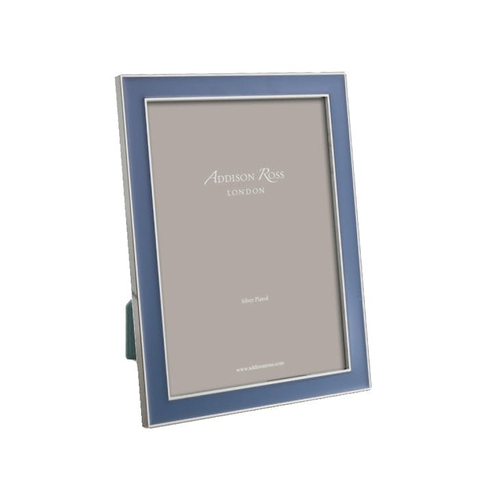 "Rich Enamel Photo Frame - 5"" x 7""; Denim"