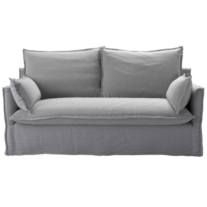Issac Sofa, Two and a Half Seat, Pumice Plain Weave