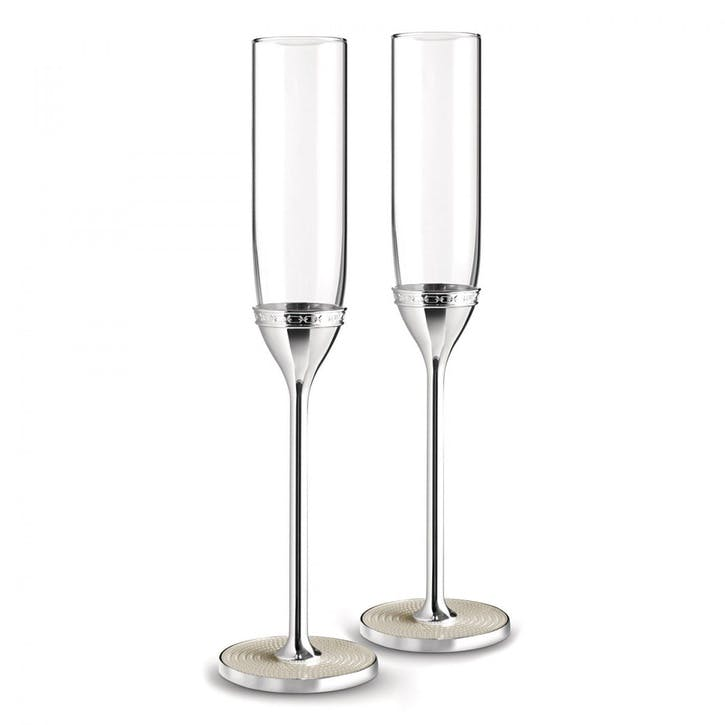 With Love Nouveau Pearl Toasting Flutes, Set of Two