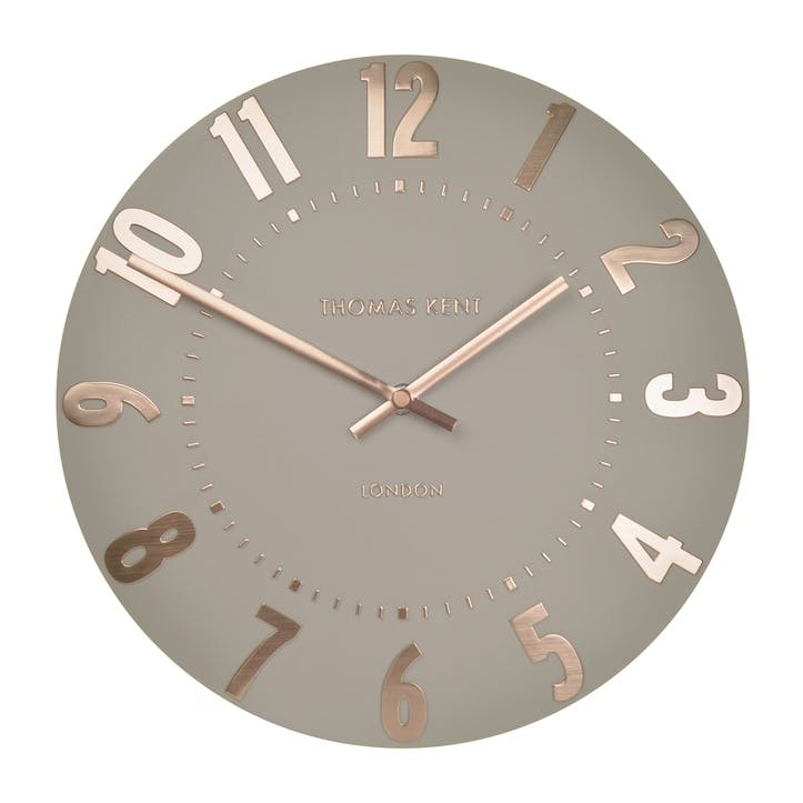 Mulberry Clock, 51cm, Rose Gold