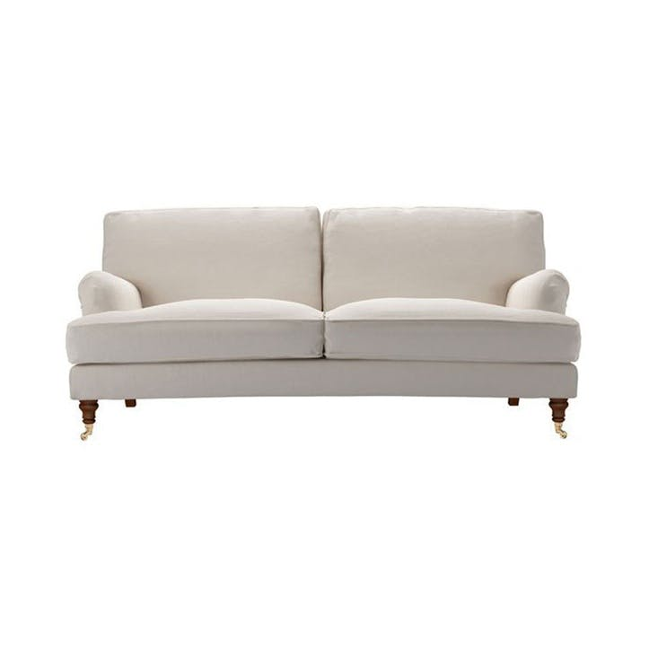 Bluebell, Three Seat, Taupe Brushed Linen Cotton
