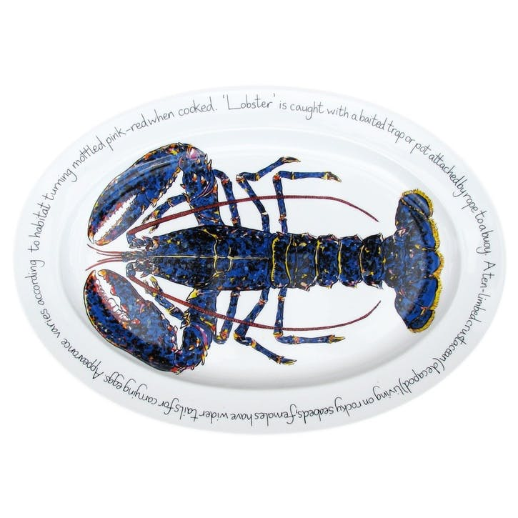 Blue Lobster Oval Plate - 39cm