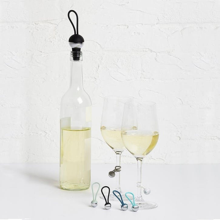 Bauble Wine Charms & Topper Set