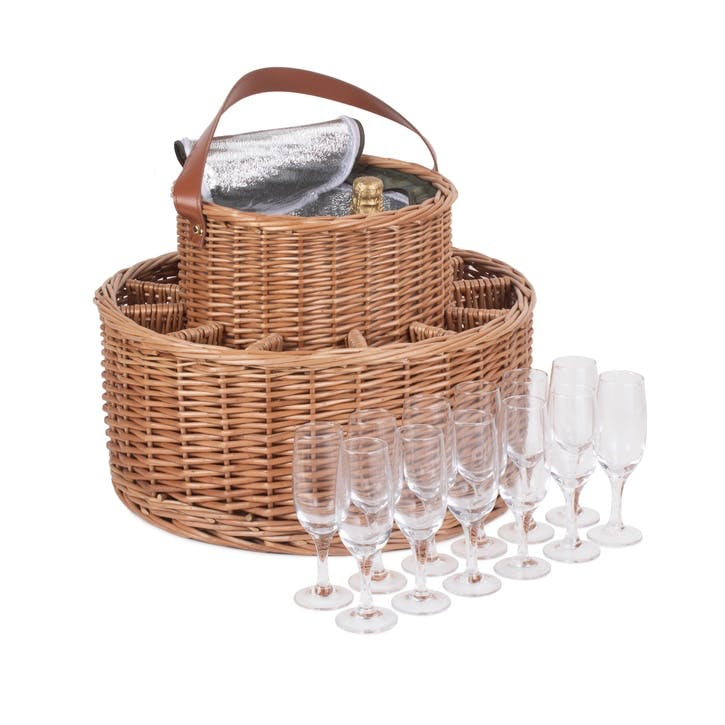 Green Tweed Chilled Garden Party Basket