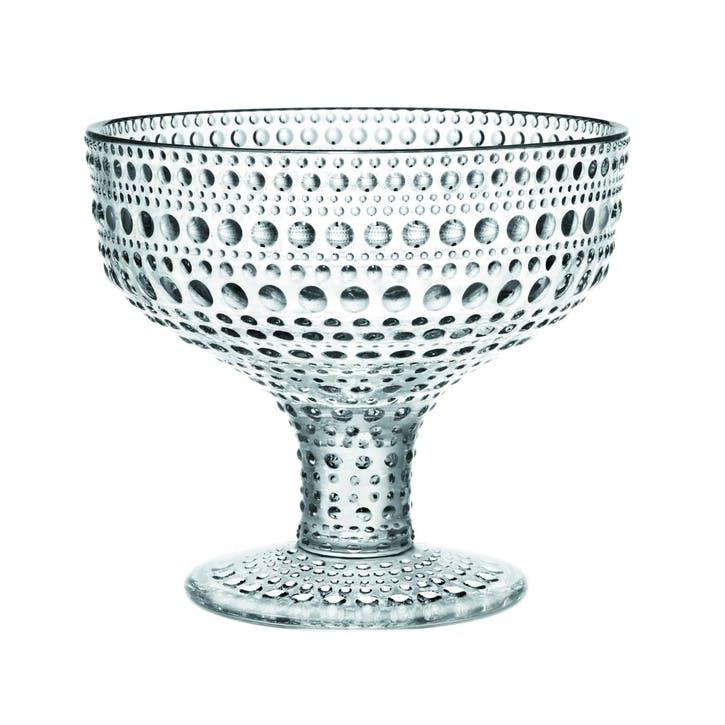Kastehelmi Footed Serving Bowl, Set of 2, Clear