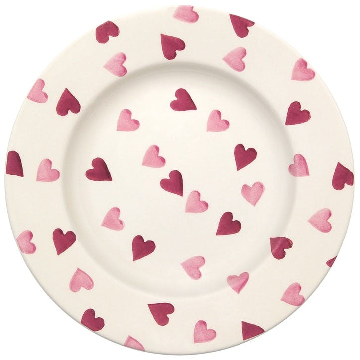 Pink Hearts Plate, 22cm