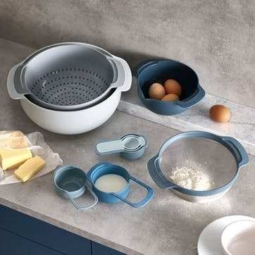 9 piece nest plus stacking bowl and measuring set