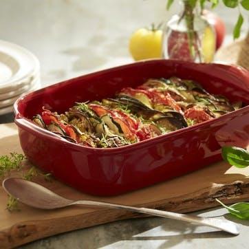 Rectangular Oven Dish - Small; Burgundy