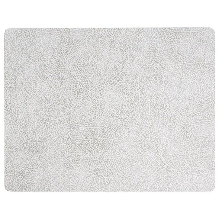 Rectangular Placemat, Set of 4, Hippo White/ Grey