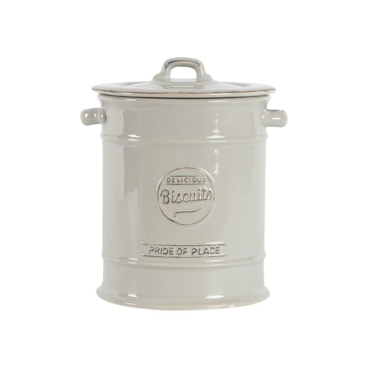 Pride Of Place Large Biscuit Jar, Cool Grey