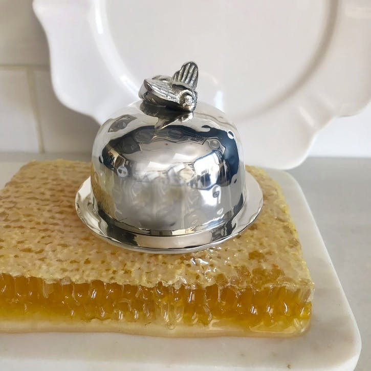 Domed Honey Bee Butter Dish - Small