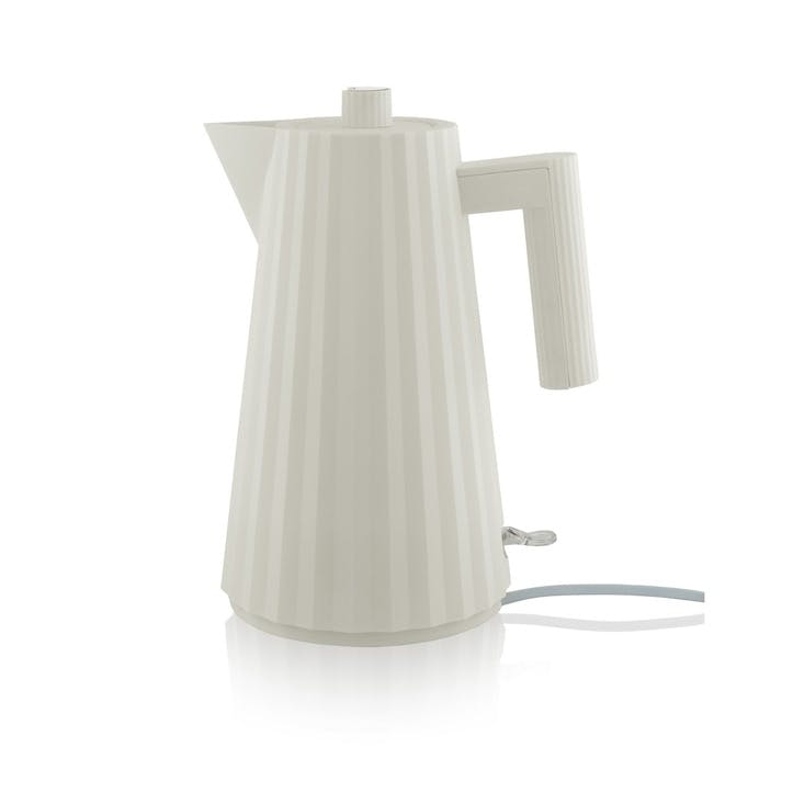 Plissé Kettle, White