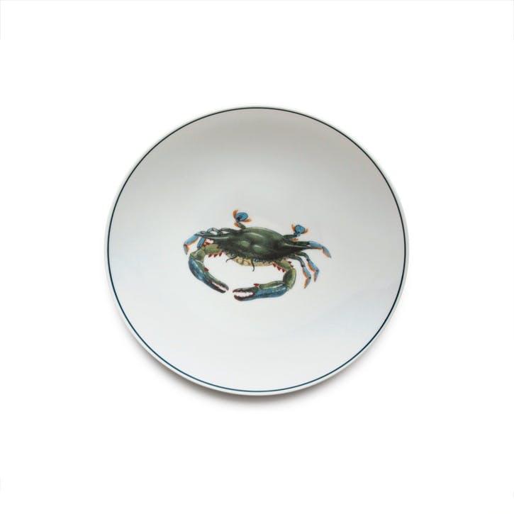 Seaflower Blue Crab Side Plate, 23cm, Blue