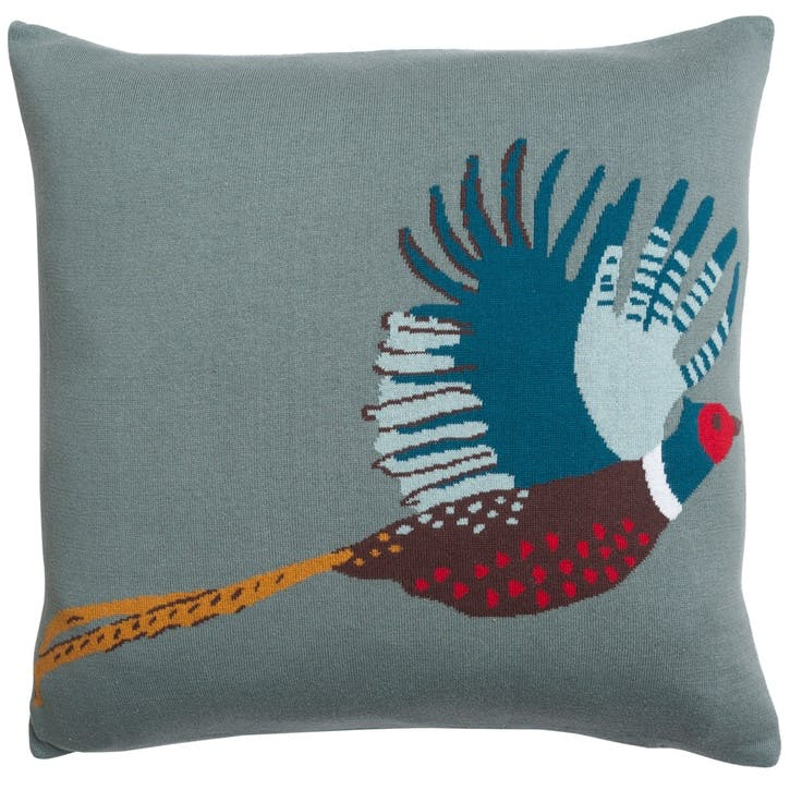 'Pheasant' Knitted Statement Cushion