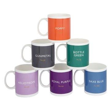 Mugs, Set of 6, 340ml, Multi