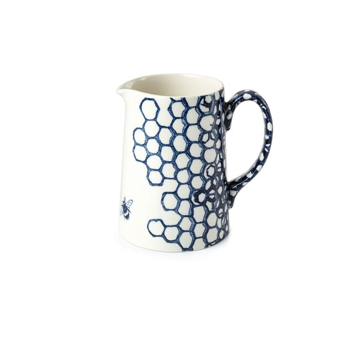 Ink Blue Pollen Milk Jug