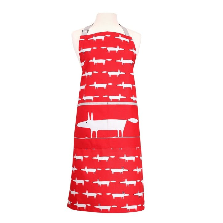 Mr Fox Apron, Red