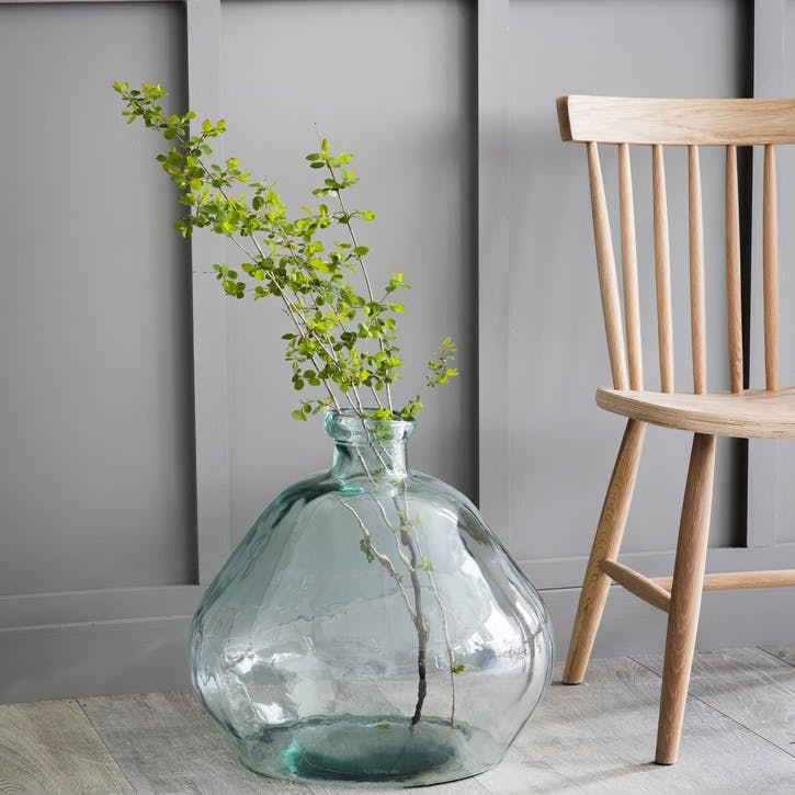 Wells Bubble Vase, Wide Extra Large, Recycled Glass