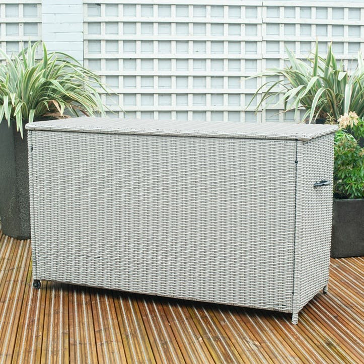 Barbados Cushion Box, Large, Stone Grey