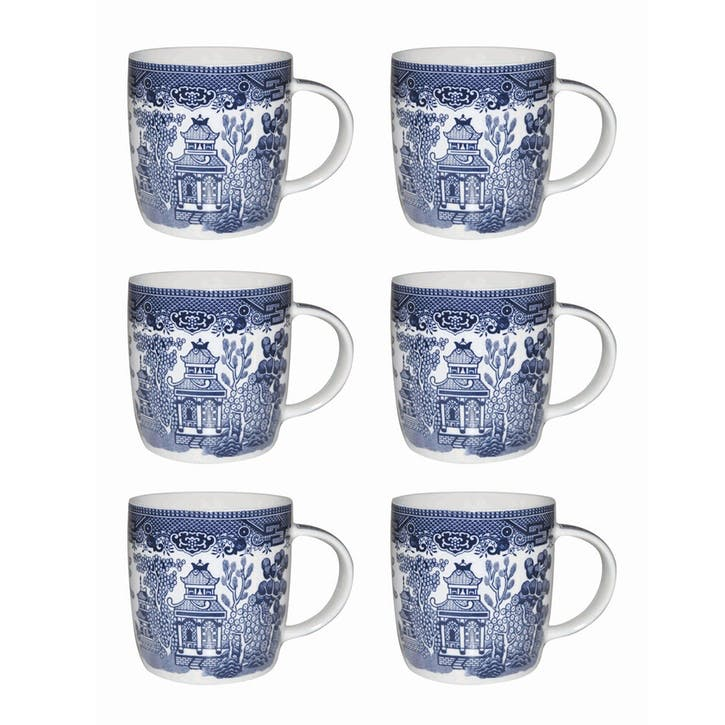Blue Willow Mug, Set of 6