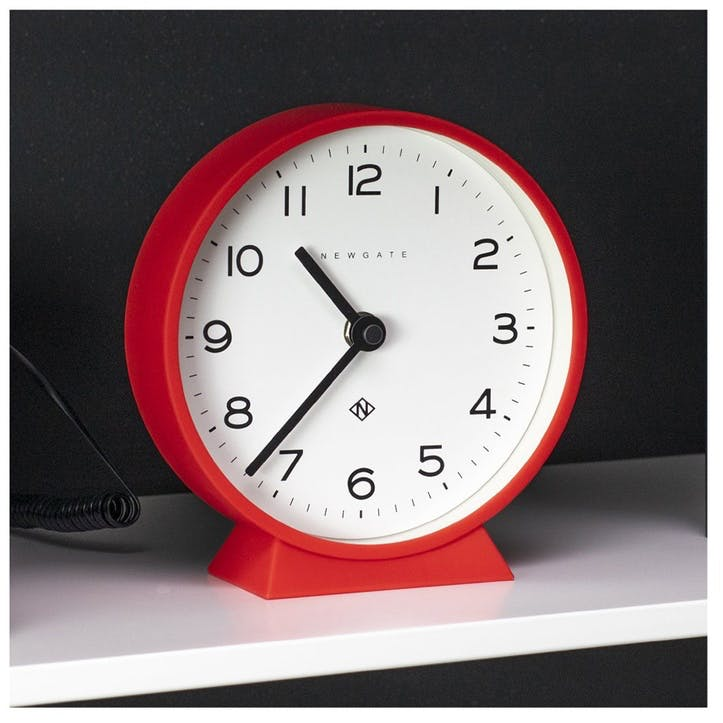 M Mantel Echo, Mantel Clock, W17cm x D6cm x H17cm, Red