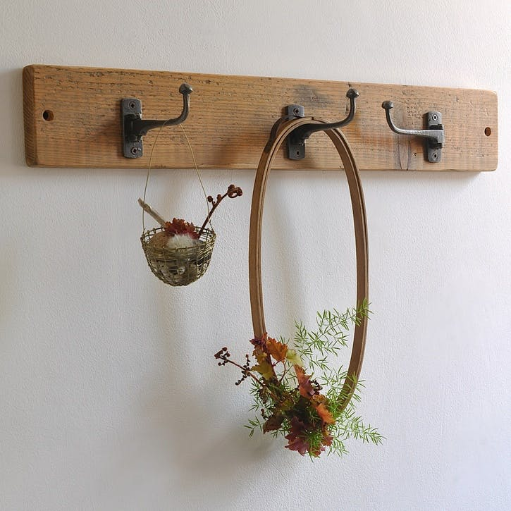Reclaimed Swivel Coat Hook - 60 x 9cm; Natural