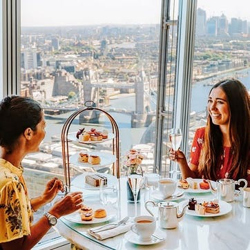 Champagne Afternoon Tea for Two at the 5* Luxury Shangri-La Hotel, at The Shard