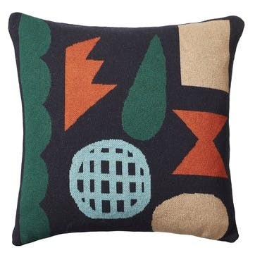 Pick 'n' Mix Square Cushion, 48cm, Navy