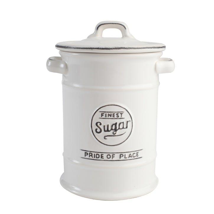 Pride of Place Sugar Jar, White
