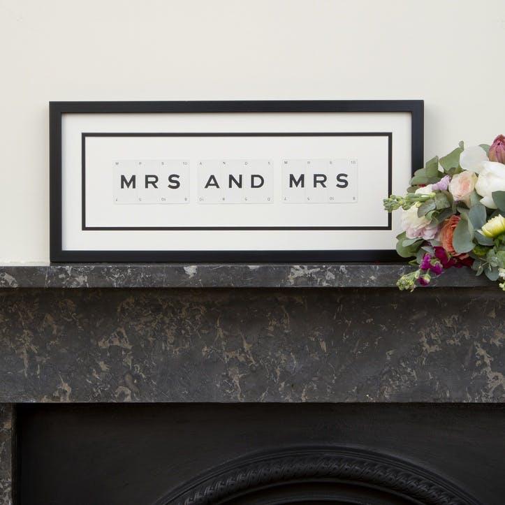 'Mrs & Mrs' Word Frame