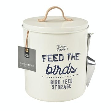 Enamelware Bird Feed Tin, Stone