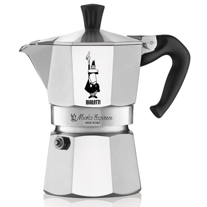 Moka Express Espresso Maker - 3 Cup; Silver