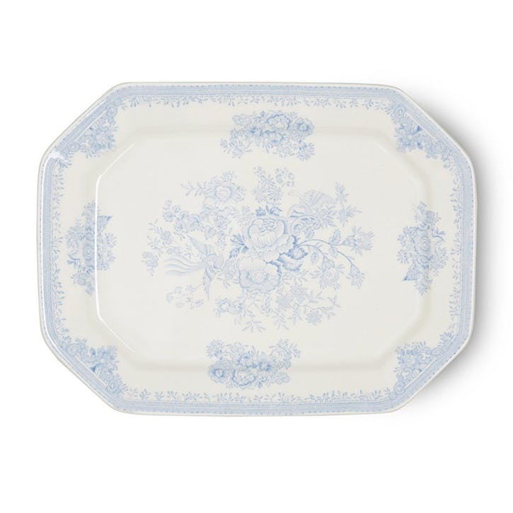 Asiatic Pheasants Rectangular Dish, 34cm, Blue