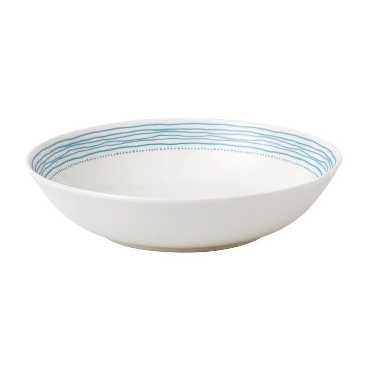 ED Ellen DeGeneres Pasta Bowl, Polar Blue Dots