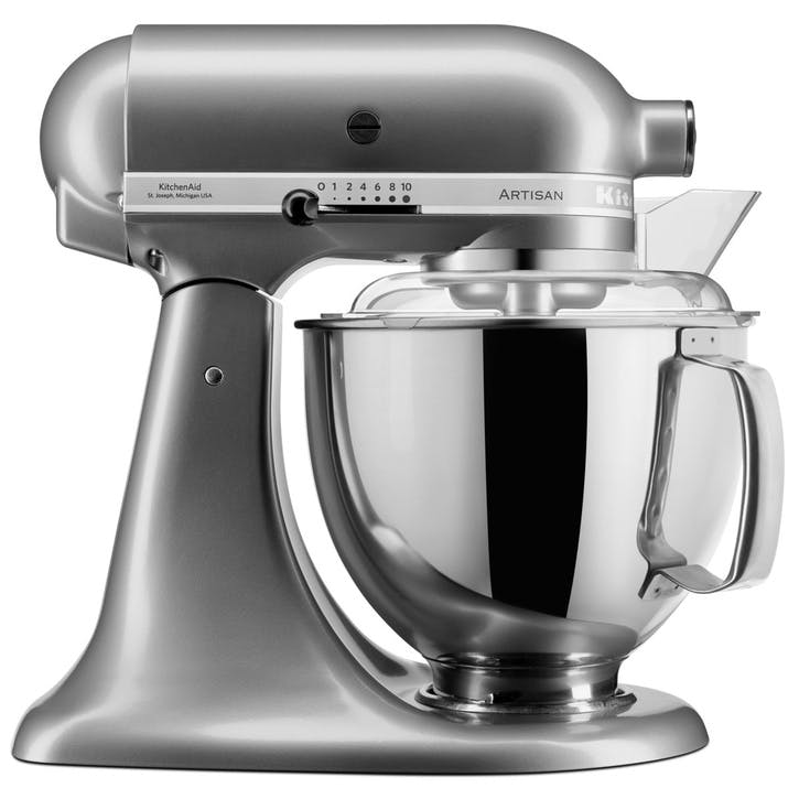 Artisan Stand Mixer with FREE 4.8L Glass Mixing Bowl, 4.8L, Contour Silver