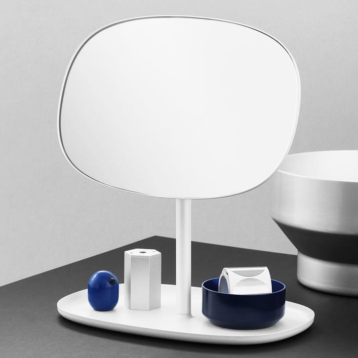 Flip Vanity Mirror L28 x D19.4 x H34.5cm White