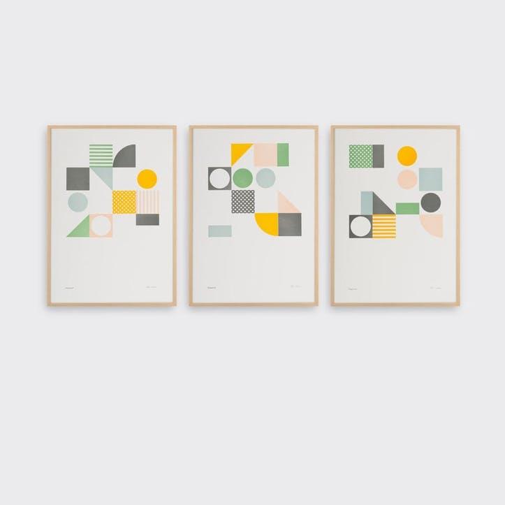 Playground, Set of 3 Prints, H42 x L30cm