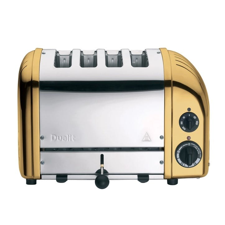 Classic Vario 4 Slot Toaster, Brass