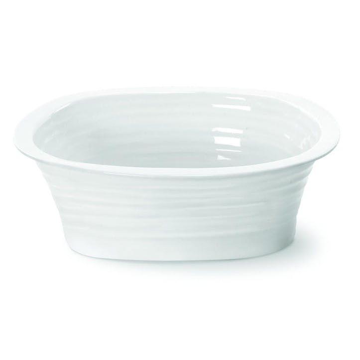 Rectangular Pie Dish - Small; White