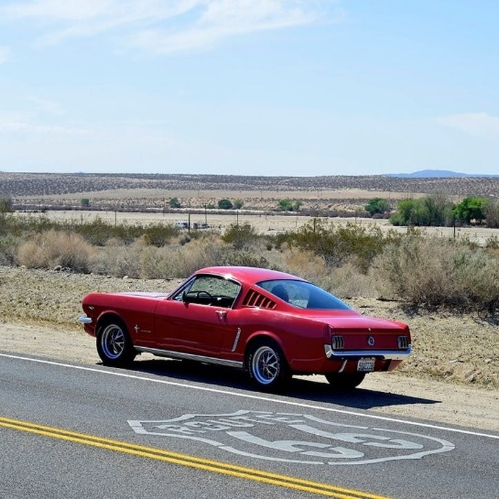Mustang Hire Along Route 66