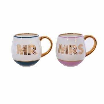 Mr & Mrs Library Mug Set