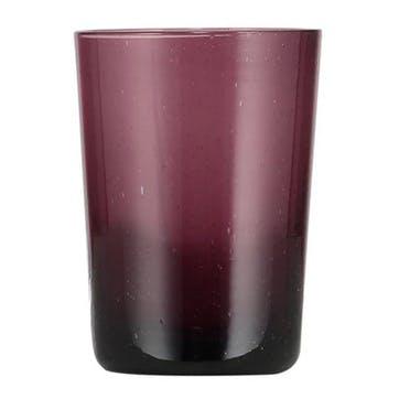 Garnet Glass Tumblers, Set of 6